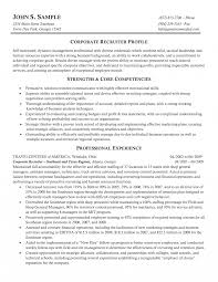 It Sales Recruiter Resume Human Resources Sample Example Corporated
