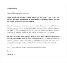 Business Proposal Request Letter Pinterest Excel Examples