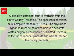 form vtr214 how much does it cost to get a handicap placard in texas youtube