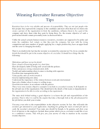 Resume For Recruiter Free Resume Example And Writing Download