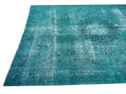 antique turkish rug from about 1930 40 distressed and bleached overdyed with emerald