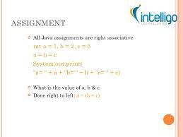 java tutorial ppt assignment