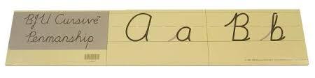 Cursive Handwriting Charts