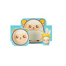 Baby Dishes Bowl Cup Bamboo Fiber <b>5pcs</b>/<b>Set Baby Plate Dishes</b> ...