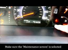 how to reset the maintenance light on a 2005 2010 honda odyssey or accord you