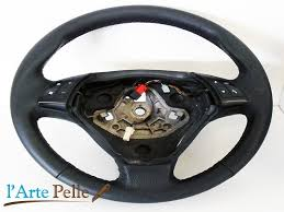 fiat grande punto black leather steering wheel cover