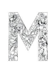 coloring page letters alphabet coloring pages m my colouring pages capital letters