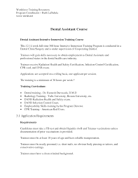 Dental Assistant Cover Letters Dental Assistant Intensive Dental