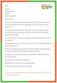 this is a fundraising letter template for an individual sponsorship request