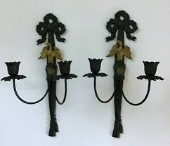 vintage pair american eagle wall sconce