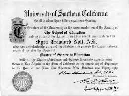 Myra Crawford Noll's Diploma
