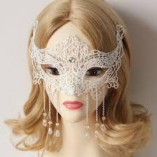 eye mask y white lace venetian masquerade ball party fancy dress princess costume
