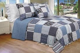 King Size Quilt Set - Daniel | My Bed Covers & Daniel 100% Cotton 3PC Vermicelli-Quilted Striped Patchwork Quilt Set (King  Size) Adamdwight.com