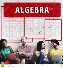 Algebra Mathematics Calculation Chart Concept Stock Image
