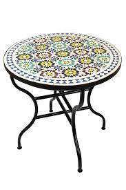 moroccan mosaic table albaicin multicolor ø 80cm