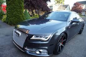 audi a7 2014 custom. 2014 audi a7 sline custom 20 wheels rs7 grille lowered salvage 7