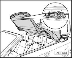 Top Locking Audi Workshop Manuals A4 Cabriolet Mk2 Body General Body