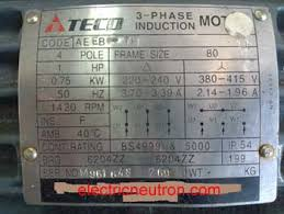 terminal connection for induction motor from
