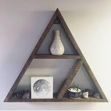 handmade wooden triangle shelf