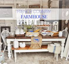 rustique restoration french country farmhouse table and decor dishware burlap runner cow