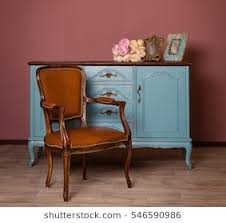 vintage furniture images. Perfect Vintage Retro Brown Leather Armchair Near Blue Dresser Tender Bouquet And Two  Frames Blue For Vintage Furniture Images B