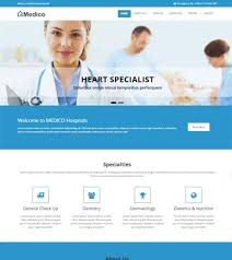 free html5 web template medical hospital website templates free download