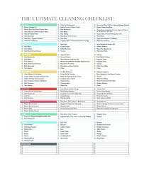 Cleaning Checklist Template Free Professional Checklist Template Free Restaurant Cleaning Checklist