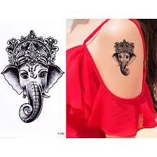 Generic 1 Sheet Temporary Body Tattoo Cute Cat Elephant Lover