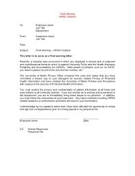 Final Warning Letter To Employee For Poor Performance | Textpoems.org