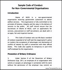 human resources confidentiality agreement templates code sample code of conduct templatezet