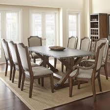 zinc dining room table. Dining Tables, Zinc Top Table Galvanized Metal Gray Finished Of Wooden Room