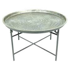 gold round side table round industrial side table round industrial coffee table dark wood round side