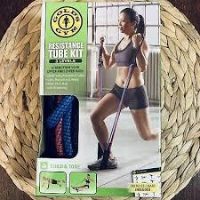 Golds Gym Long Resistance Tube Medium Hiit Cardio Gym