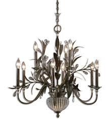 uttermost 21094 cristal de lisbon 9 light chandelier with 2 down lights undefined