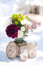 Decorating With Mason Jars And Burlap burlap wrapped mason jars wedding centerpiece Deer Pearl Flowers 63