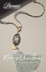 Premier Designs Holiday Collection Dazzled Necklace W Removable Tassel
