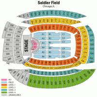Soldier Field Chart Soldier Field Seating Chart Interactive Seat Map