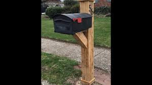wood mailbox posts. DIY Mailbox Post Wood Posts S