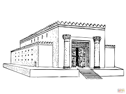 Small Picture Solomon Temple coloring page Free Printable Coloring Pages