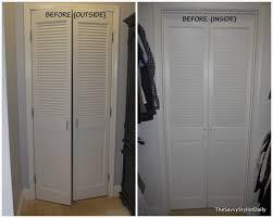 bi fold to hinged lehman lane remodelaholic diy mirrored closet door makeover marvelous diy diy closet