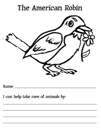 Small Picture The American Robin Bird Coloring Page Download Print Online