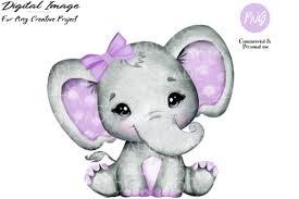 Tusker elephant walking to the water. Purple Girl Elephant Clip Art Graphic By Adlydigital Creative Fabrica
