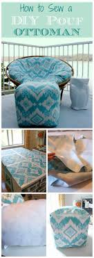 How to Sew a DIY Pouf Ottoman {Indoor or Outdoor