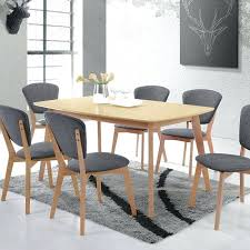 wooden dining room table and 6 chairs round wood 60 inch jaipur 68 x 40 in
