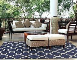 5x7 outdoor rug modern patio blue sisal woven brown carpet