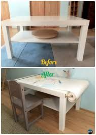 Easy diy furniture ideas Makeovers Ideas Diy Ikea Kids Art Craft Desk Makeover Instructions Backtoschool Kids Furniture Wonderful Diy Easy Diy Backtoschool Kids Furniture Ideas Projects Instructions
