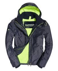 Superdry Windcheater Size Chart Mens Arctic Hooded Pop Zip Sd Windcheater Jacket In Navy