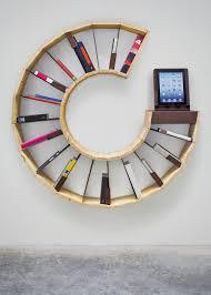 bookshelf furniture design. unique circle shaped wooden wall bookshelf design furniture