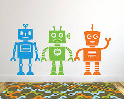 29 robot decals for wall robot wall stickers vinyl wall art bedrooms mcnettimages  on robot nursery wall art with 29 robot decals for wall robot wall stickers vinyl wall art
