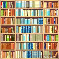 bookcase full of books vinyl wall mural library